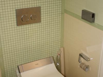 Установка стальной ванны
